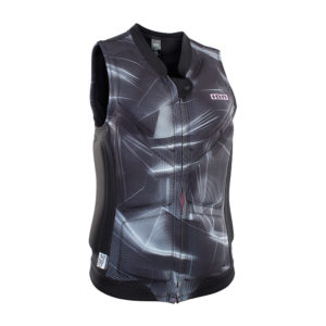 ION Lunis Vest FZ laser black front Pure Surfshop